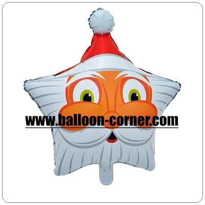 Balon Foil Bintang Santa Claus