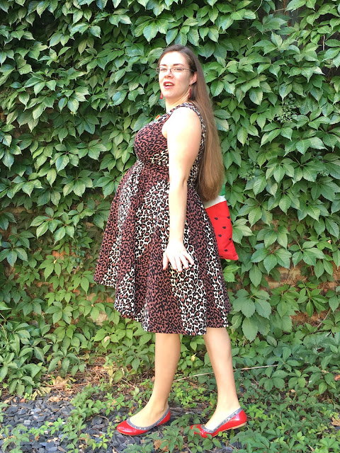 maternity Pinup Girl Clothing leopard Scrumptious dress