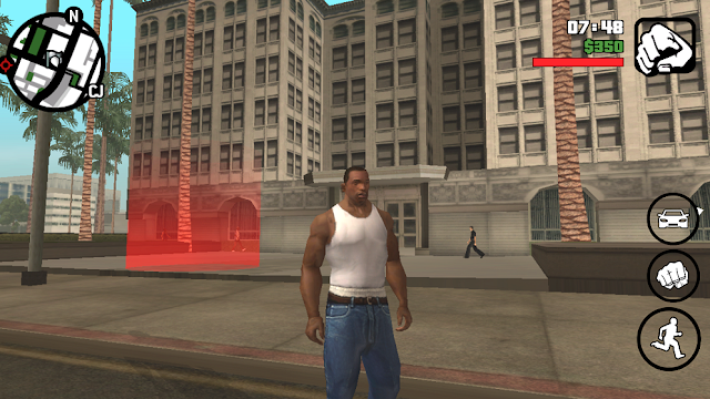 Fight Mod GTA SA Android red checkpoint screen shot