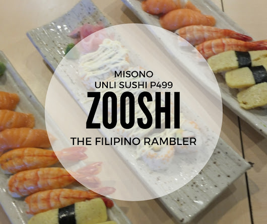 Misono Zooshi- Unli Sushi for only P499!
