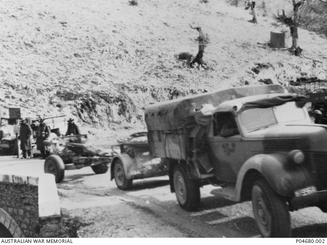 18 April 1941 worldwartwo.filminspector.com Australian Army convoy Greece