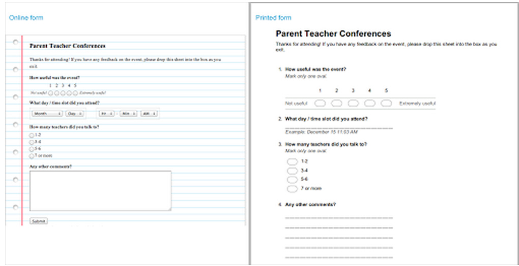 new in google forms print friendly forms for teachers educational