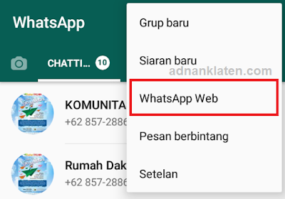 Cara menggunakan whatsapp di PC atau lapt5op terbaru