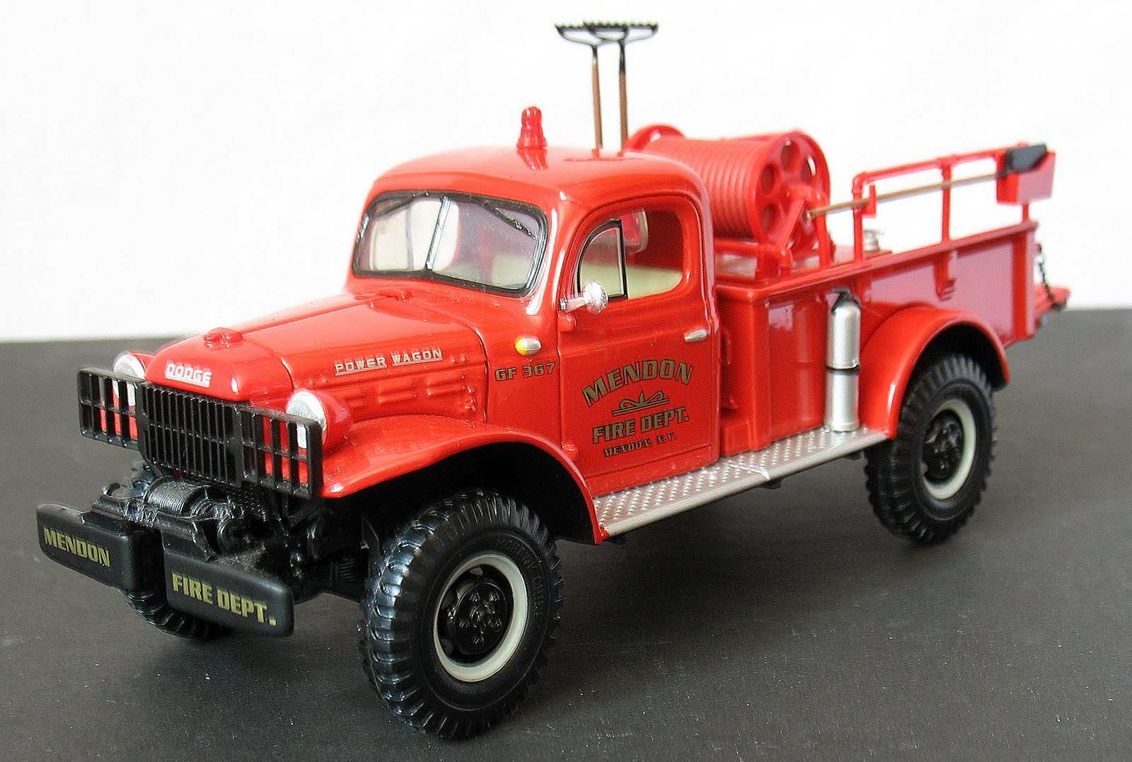 Im Liking Trucks The Great First Gear Mendon Fire Dept Dodge 1954 Power Wagon Caper
