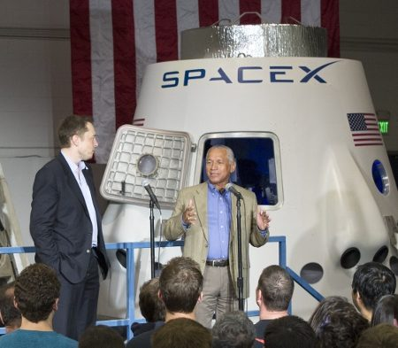 Space: NASA Administrator Charles Bolden Visits SpaceX ...