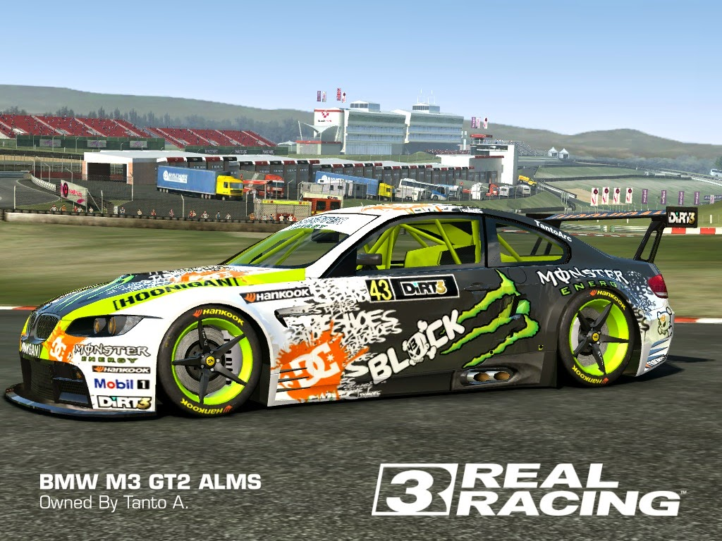 KEN BLOCK ON BMW M3 GT2 REAL RACING 3 SKIN AND LIVERY