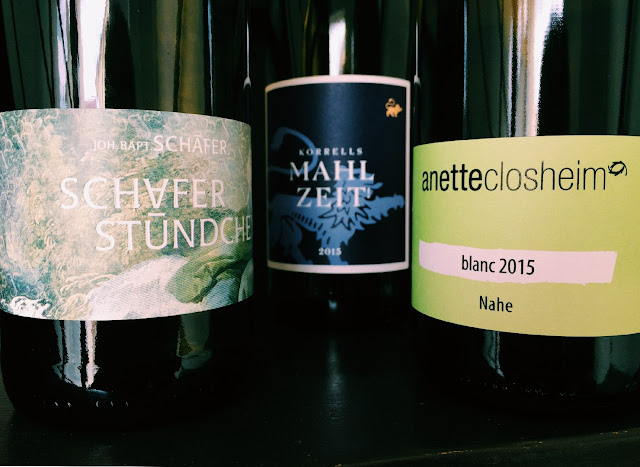 Drei Weißwein-Cuvées Jahrgang 2015 von drei Naheweingütern