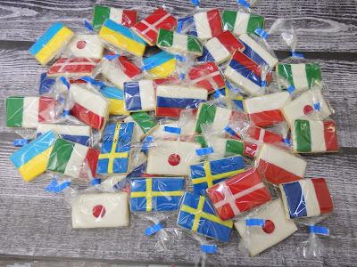 ciasteczka flaga włochy francja szwecja japonia