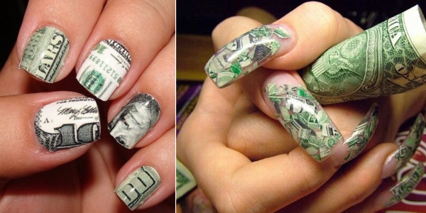 Money nails tutorial prinsesfo Images