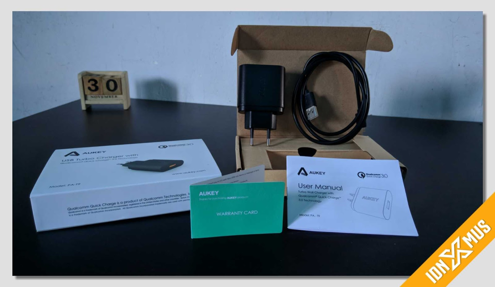 Unboxing Charger Aukey PA-T9