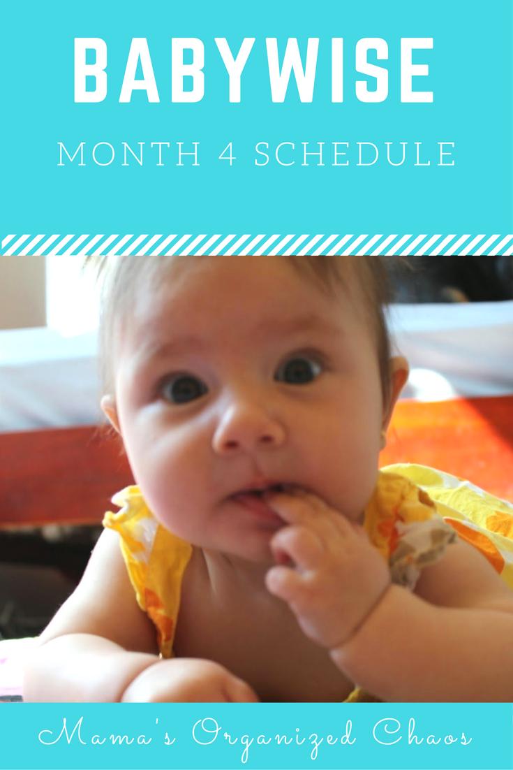 Eat wake sleep cycle month 4 babywise