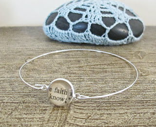 image faith bracelet bangle typography two cheeky monkeys words text thesaurus jewellery jewelry