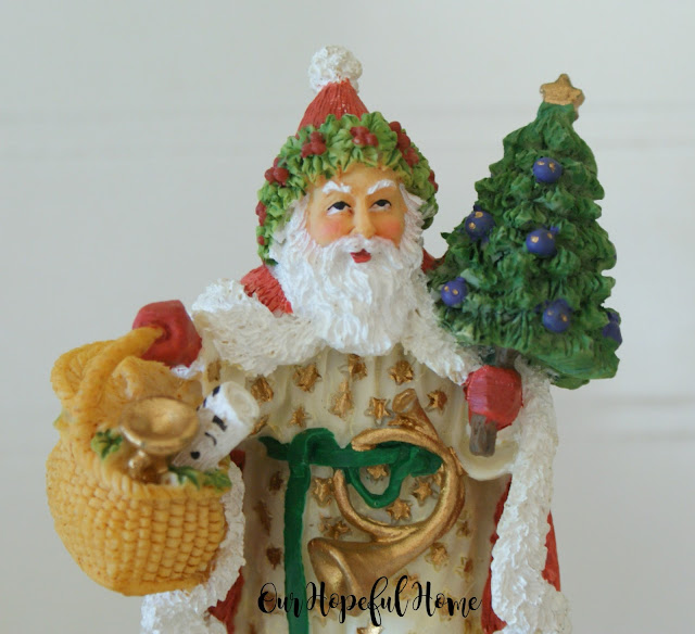Welsh Santa Father Christmas figurine