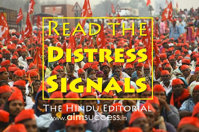 Read the Distress Signals : The Hindu Editorial