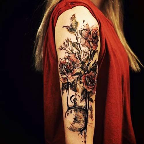kadın üst kol dövme modelleri woman upper arm tattoos 6