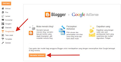 Menu Earning Blogger
