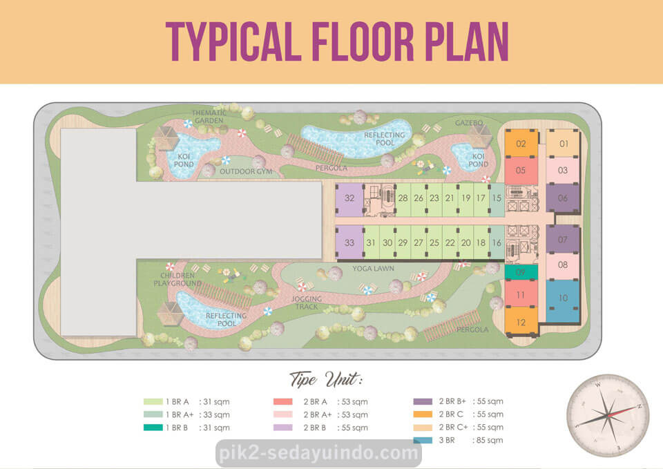 Floor Plan Apartemen Tokyo SkyTree PIK 2 Jakarta
