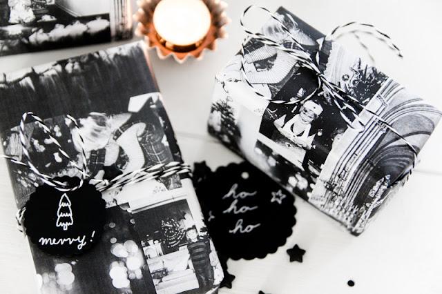 Geschenkpapier aus Fotos