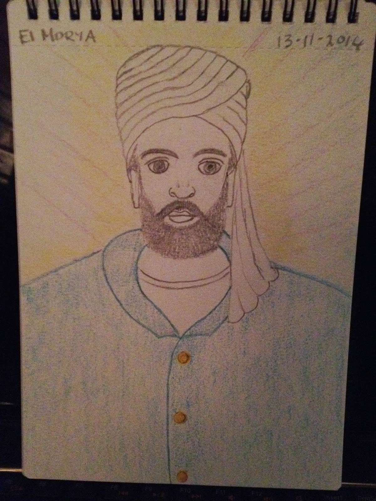 drawing of el Morya by Christina Ritchie