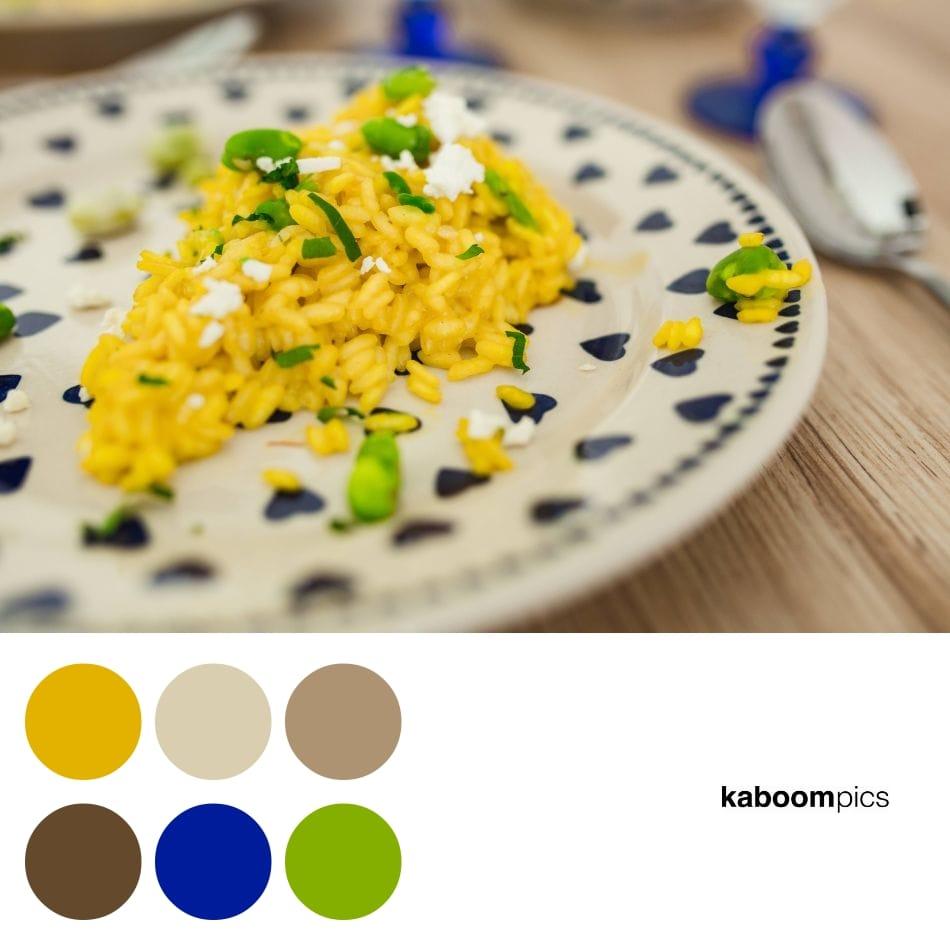 paleta de colores para un blog de alimentación