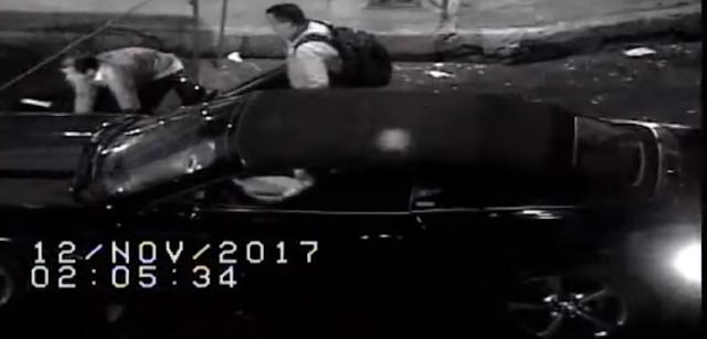 VIDEO, Sicarios les pidieron un cigarro segundos después fueron ejecutados a bordo de su Camaro