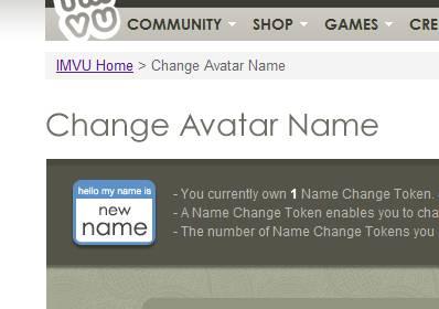 Imvu Fam: Change Name CN