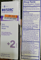 BENZAC acne solutions skin refining mask treatment salicyclic acid sandalwood oil masque review