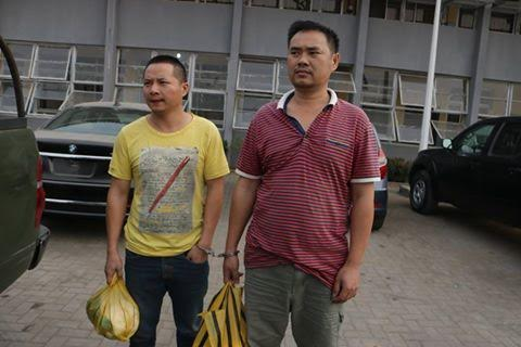 chinese caught animal skin lagos