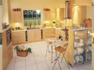 cocina de color amarill