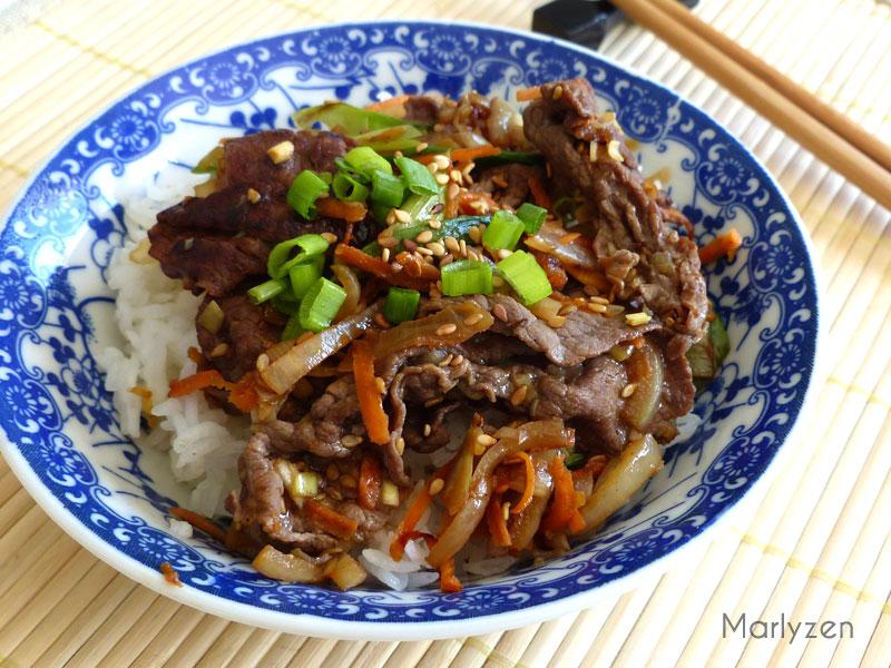 Bulgogi (boeuf mariné grillé à la coréenne)