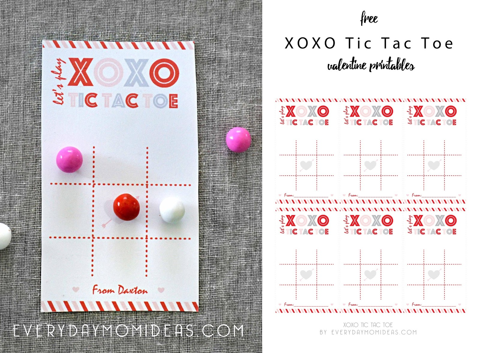 graphic regarding Valentine Tic Tac Toe Printable called XOXO Tic Tac Toe (Cost-free Valentine Printable) - Each day Mother Plans