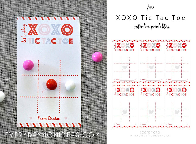 Free Printable XOXO Valentines @michellepaigeblogs.com