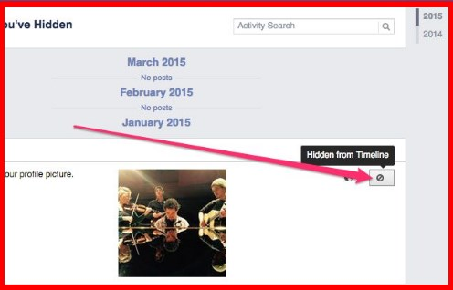 how to unhide facebook post on page