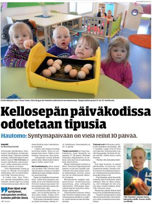 Päivi Korpivaara Tuohimutkan kanala Kellosepän päiväkodin tiput