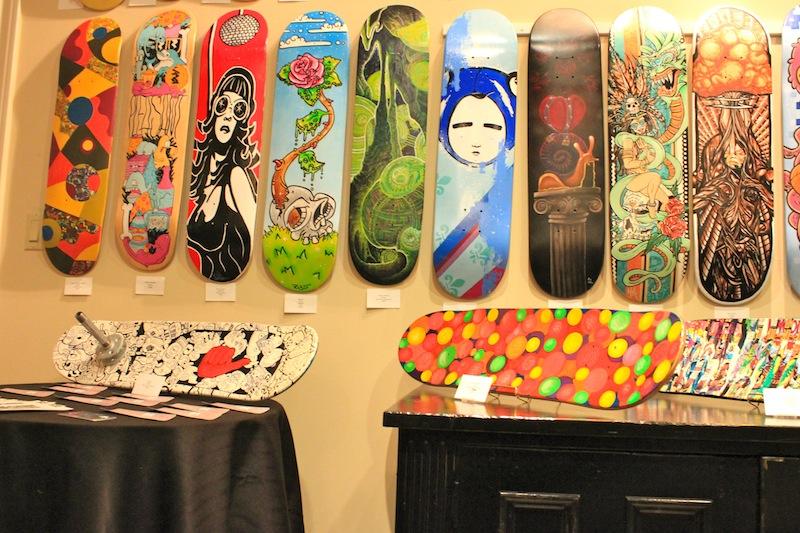 ArtDeckCo Skateboard Art Display at Galerie Spectra