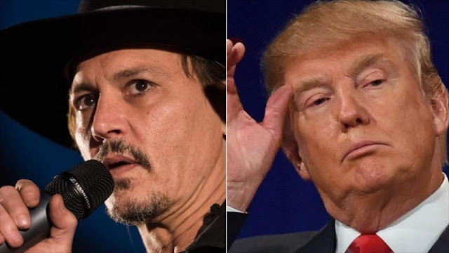 El actor Johnny Depp ¿bromea? con la muerte de Donald Trump