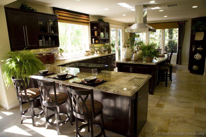 Kitchen Decor Ideas With Dark Cabinets kitchen decorating ideas dark cabinets - home design
