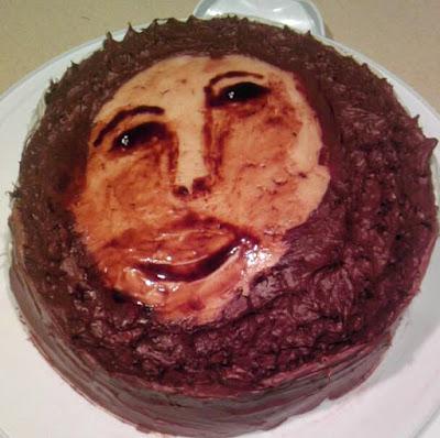 Torte mit Jesus Christus Gesicht lustig