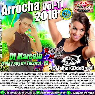 CD TOP ARROCHA 2016 VOL.11 - DJ MARCELO O PLAY BOY