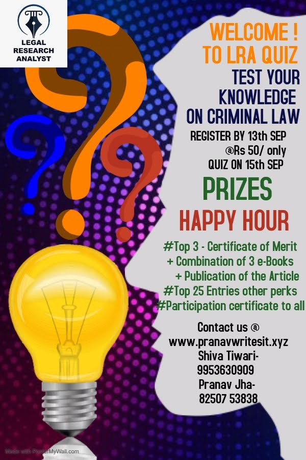 Quiz competition organised by Legal Research and Analysis