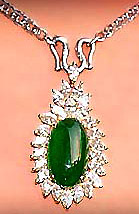 jade diamond pendant