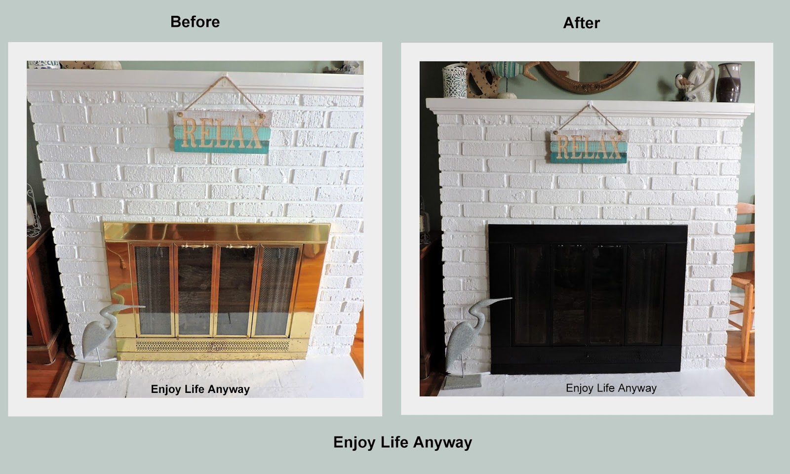 Enjoy Life Anyway How To Make An Outdated Fireplace Insert Look