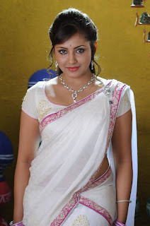 Actress Madhu Shalini Stills in White Half Saree  0001.jpg