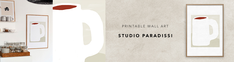 Contemporary Printable Wall Art by Studio Paradissi