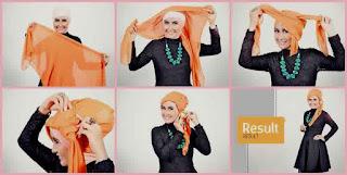 cara memakai hijab segi empat untuk ke pesta