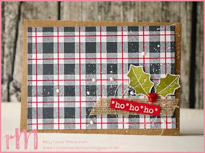 Stampin' Up! rosa Mädchen Kulmbach: Weihnachtspost 2017 von Silke Richter