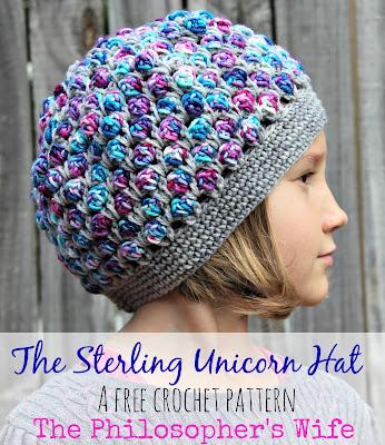 Free Crochet Pattern of Sterling Unicorn Hat