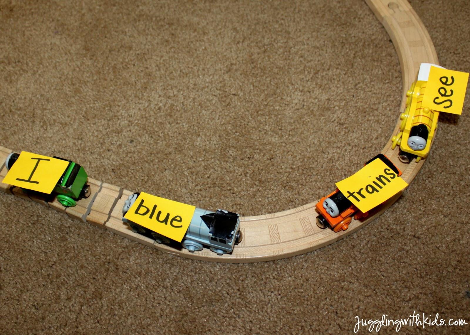 Choo-Choo! Sight Word Train – Juggling With Kids