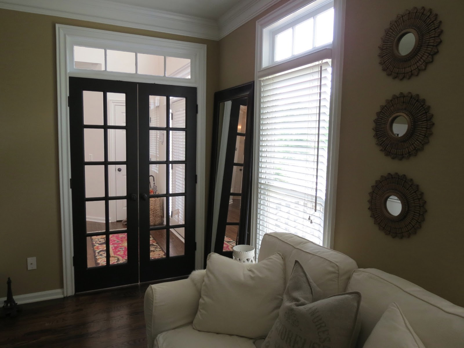 TiffanyD: New Foyer Progress! And Black French Doors...