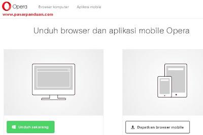 perangkat lunak untuk mengakses internet (opera mini)